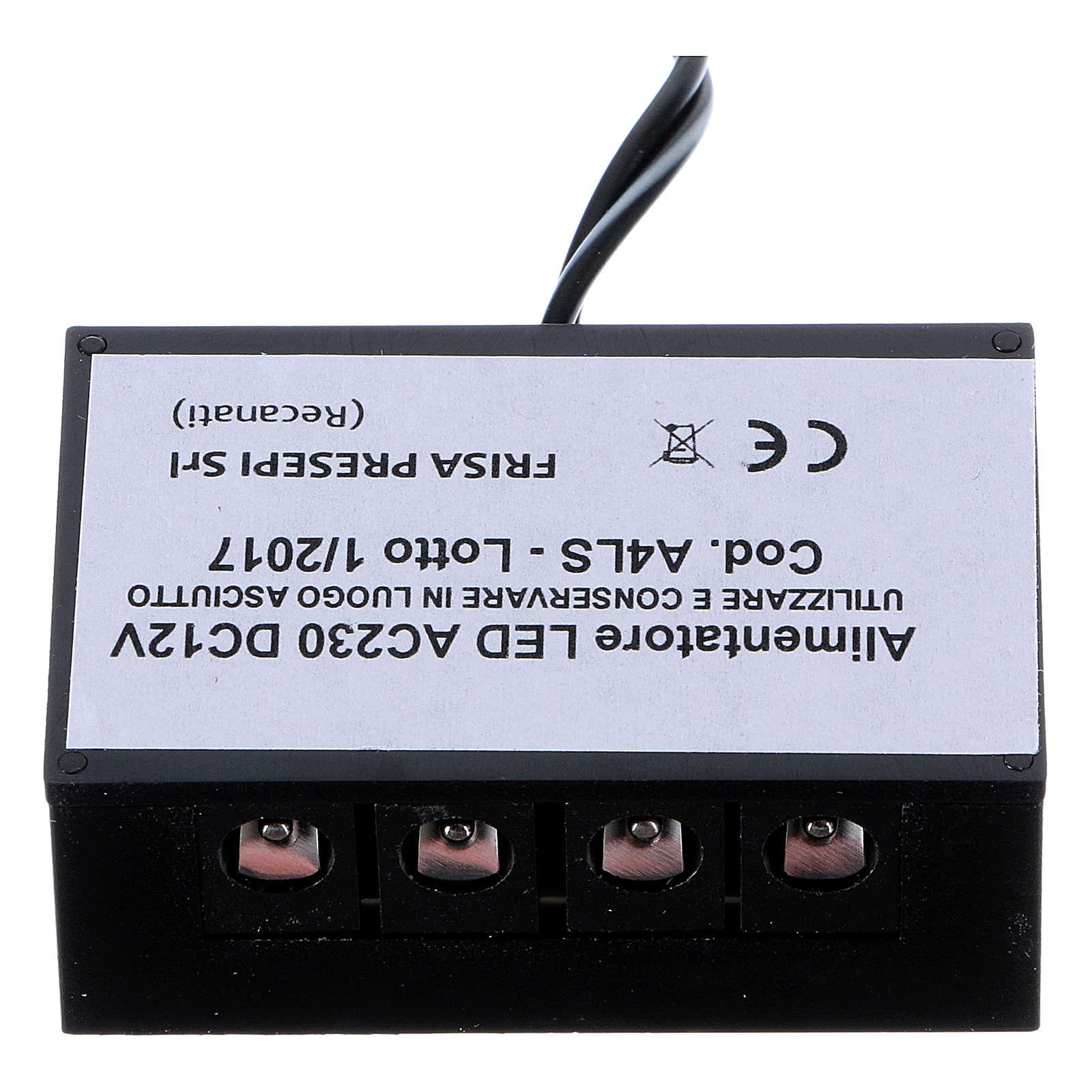 Power supply for LED strip LC8 2.1 mm 4 sockets for Nativity scene 4