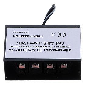 Centrales et effets crèche noël: Alimentateur bandes Led LC8 2,1 mm 4 sorties pour crèche