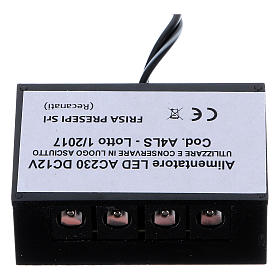 LED power supply strip LC8 2.1 mm 4 outputs for nativity scenes s1