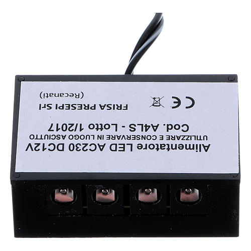 LED power supply strip LC8 2.1 mm 4 outputs for nativity scenes 1