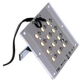 Lampada a led luce calda diffusa per dissolvenza 12V 4W per presepi s2