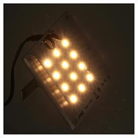 Lampada a led luce calda diffusa per dissolvenza 12V 4W per presepi s3