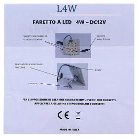 Lampada a led luce calda diffusa per dissolvenza 12V 4W per presepi s6