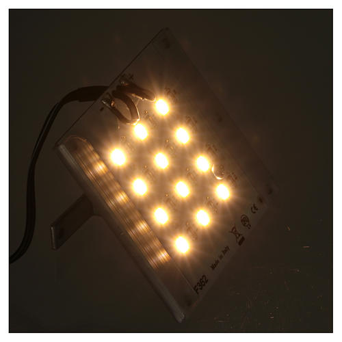Lampada a led luce calda diffusa per dissolvenza 12V 4W per presepi 3