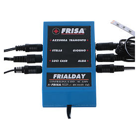 Frialday LED control unit for Nativity scene + kit lights dawn day sunset night s1