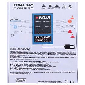Frialday centralina led presepe + kit luci alba giorno tramonto notte  s4