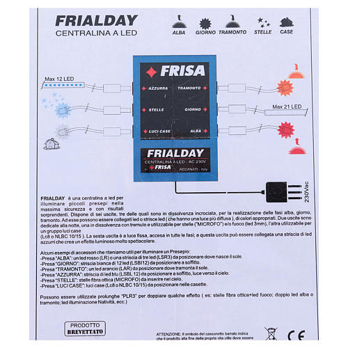 Frialday centralina led presepe + kit luci alba giorno tramonto notte  4
