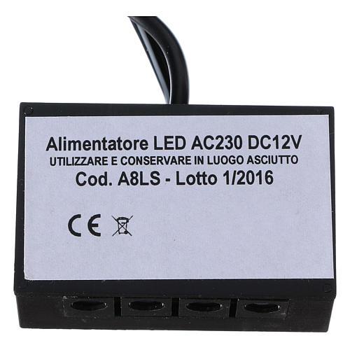 Alimentatore strisce led LC8 2,1 mm 8 uscite per presepi 2