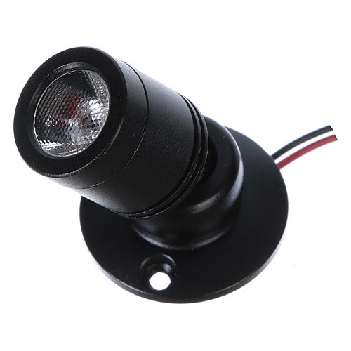 Mini spot led orientabile singolo e supporto triplo 1W per presepi 2