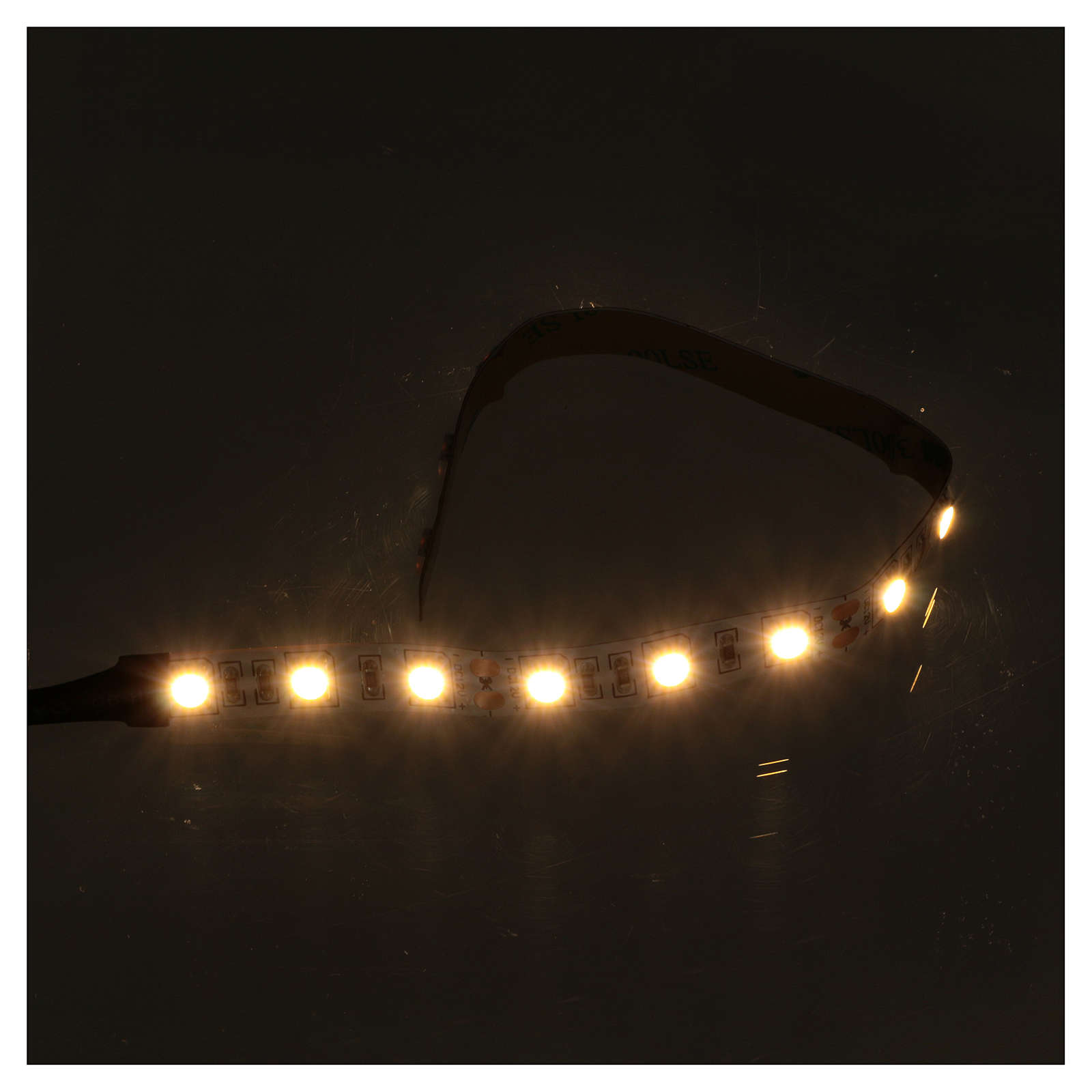 LED light self-adhesive strip, warm white light for Nativity scene 25 cm 12 V 4