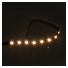 LED light self-adhesive strip, warm white light for Nativity scene 25 cm 12 V s2
