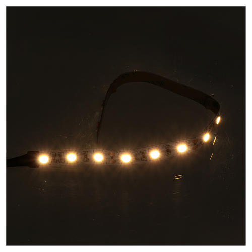 LED light self-adhesive strip, warm white light for Nativity scene 25 cm 12 V 2