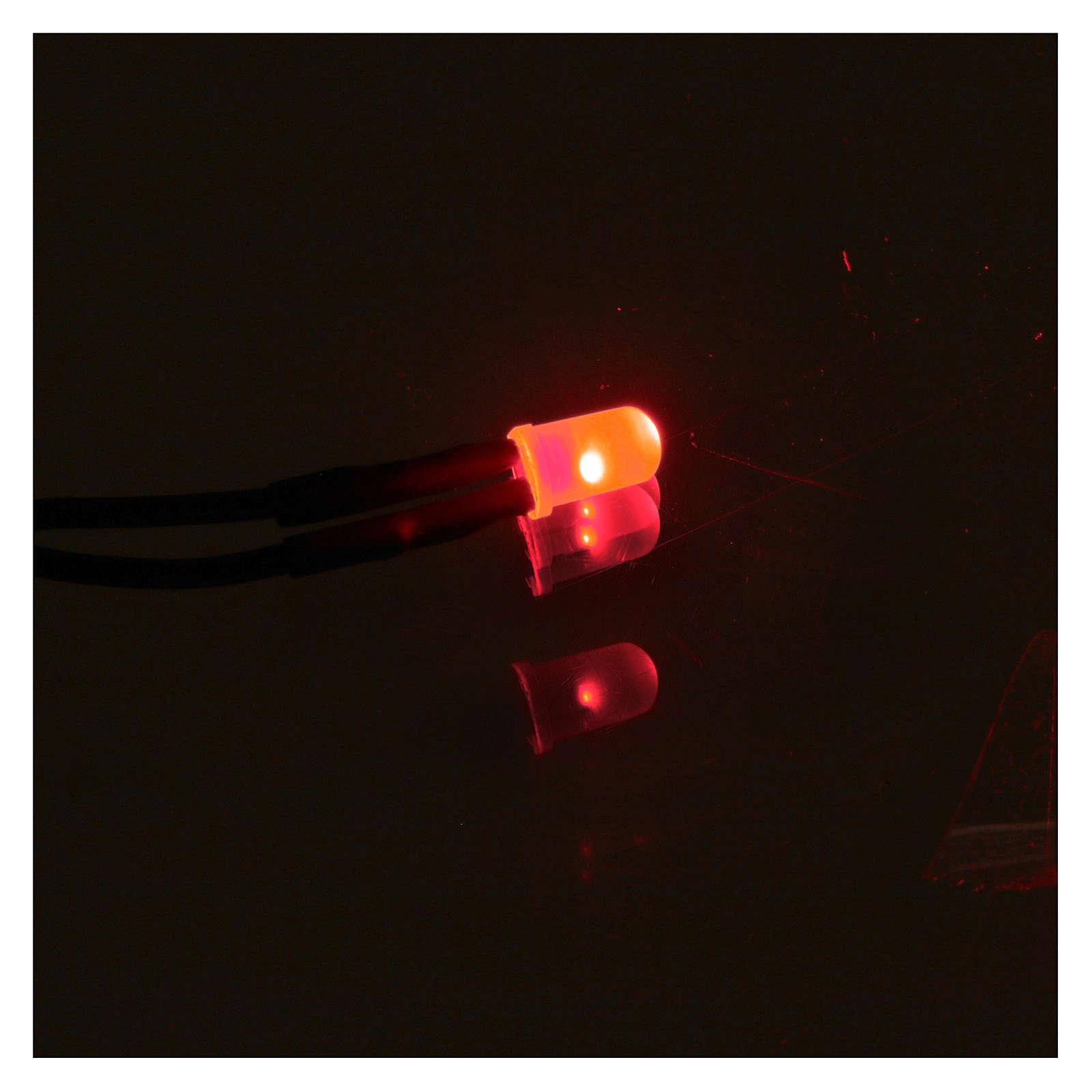 Led 5 mm luce rossa presepe 4