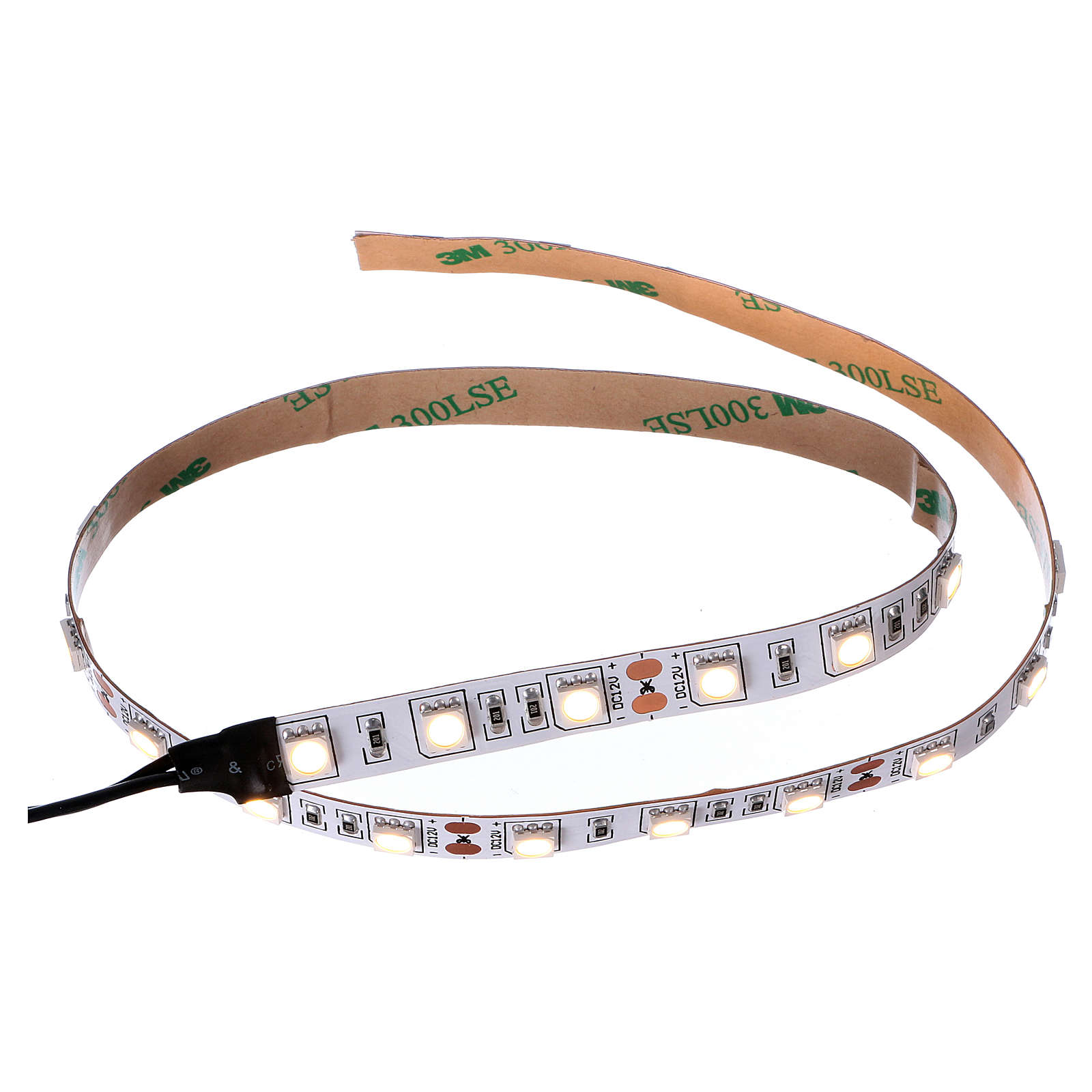 Striscia 30 led bianco caldo 12V 50 cm per presepi 4
