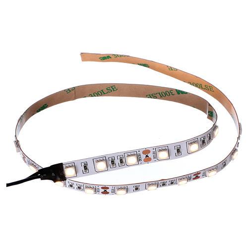 Striscia 30 led bianco caldo 12V 50 cm per presepi 1