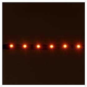 Light strip 6 LEDs, self-adhesive, 12V orange light for Nativity scene, 8 cm s2