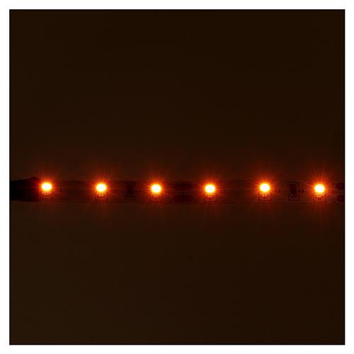 Light strip 6 LEDs, self-adhesive, 12V orange light for Nativity scene, 8 cm 2
