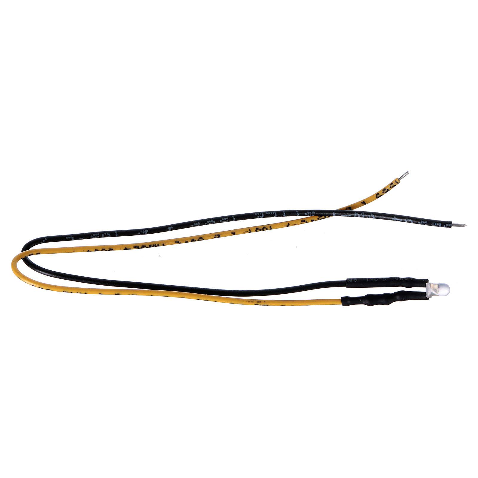 Led con filo 3 mm luce gialla presepe 4