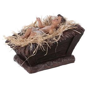 Baby Jesus in his cradle in resin for Nativity Scene 60 cm s3