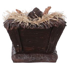 Baby Jesus in his cradle in resin for Nativity Scene 60 cm s5