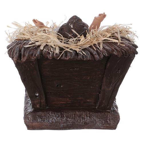 Baby Jesus in his cradle in resin for Nativity Scene 60 cm 5