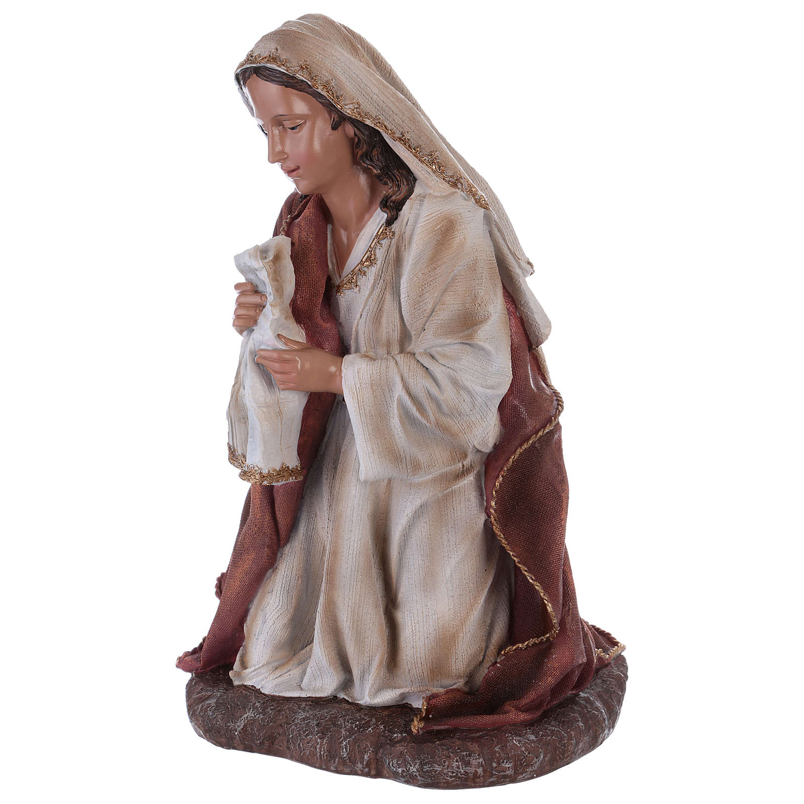 Virgin Mary in resin for Nativity Scene 60 cm 3