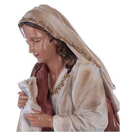Virgin Mary in resin for Nativity Scene 60 cm s2