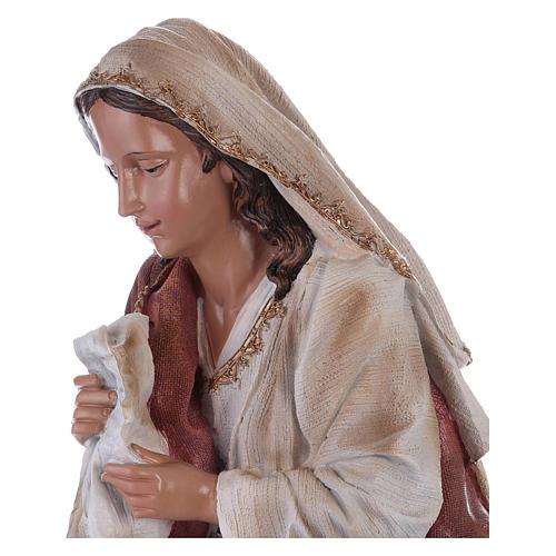 Virgin Mary in resin for Nativity Scene 60 cm 2