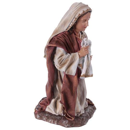 Virgin Mary in resin for Nativity Scene 60 cm 4