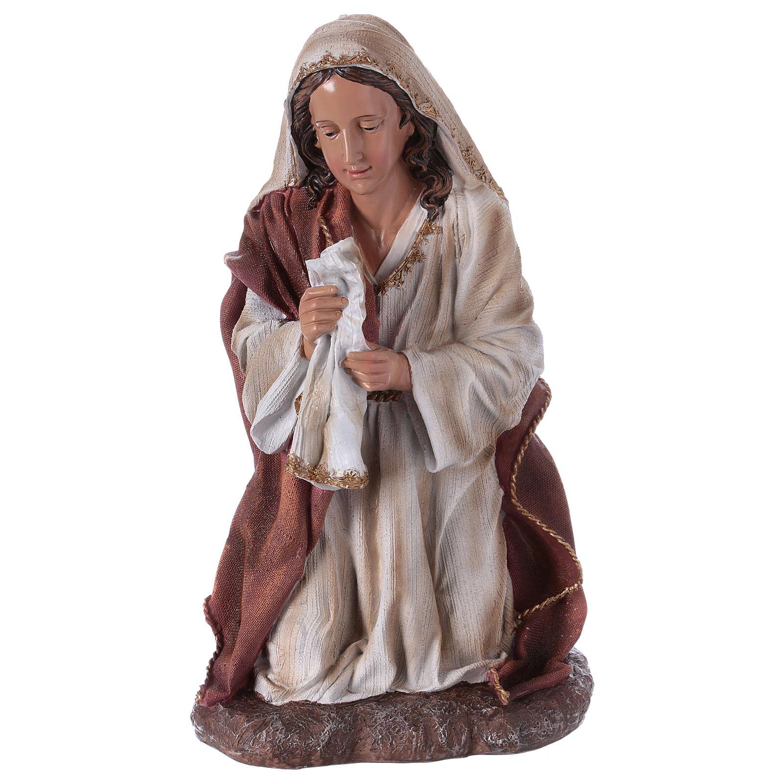 Figura María para belén 60 cm resina 3