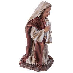 Statua Madonna per presepe 60 cm resina  s4