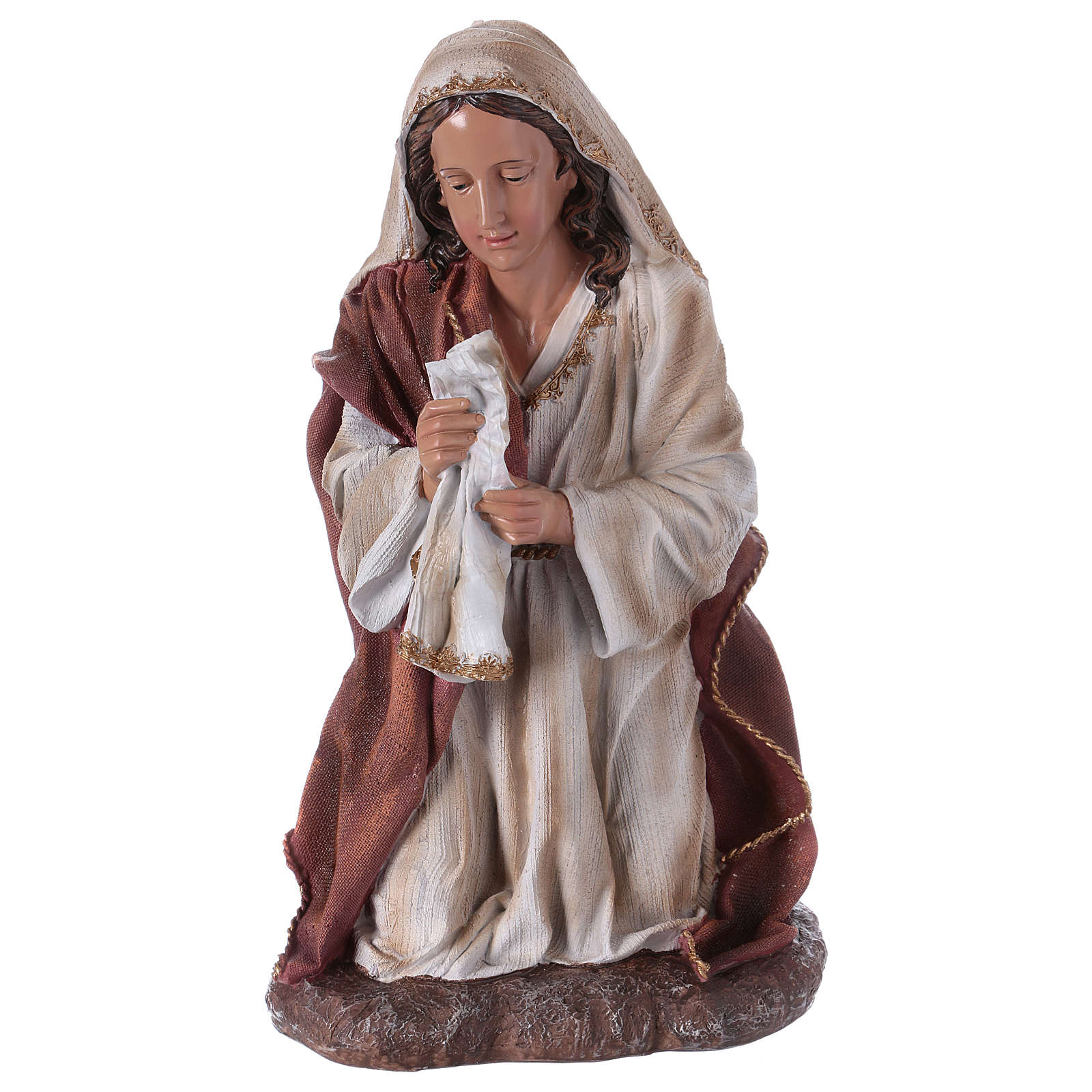 Virgin Mary statue for a 60 cm Nativity Scene, resin 3