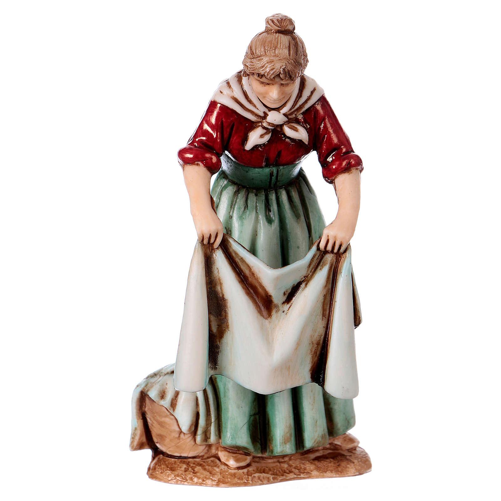 Personajes asomados 3 figuras belén 10 cm de altura media Moranduzzo estilo 700 4
