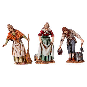 Personajes asomados 3 figuras belén 10 cm de altura media Moranduzzo estilo 700 s1