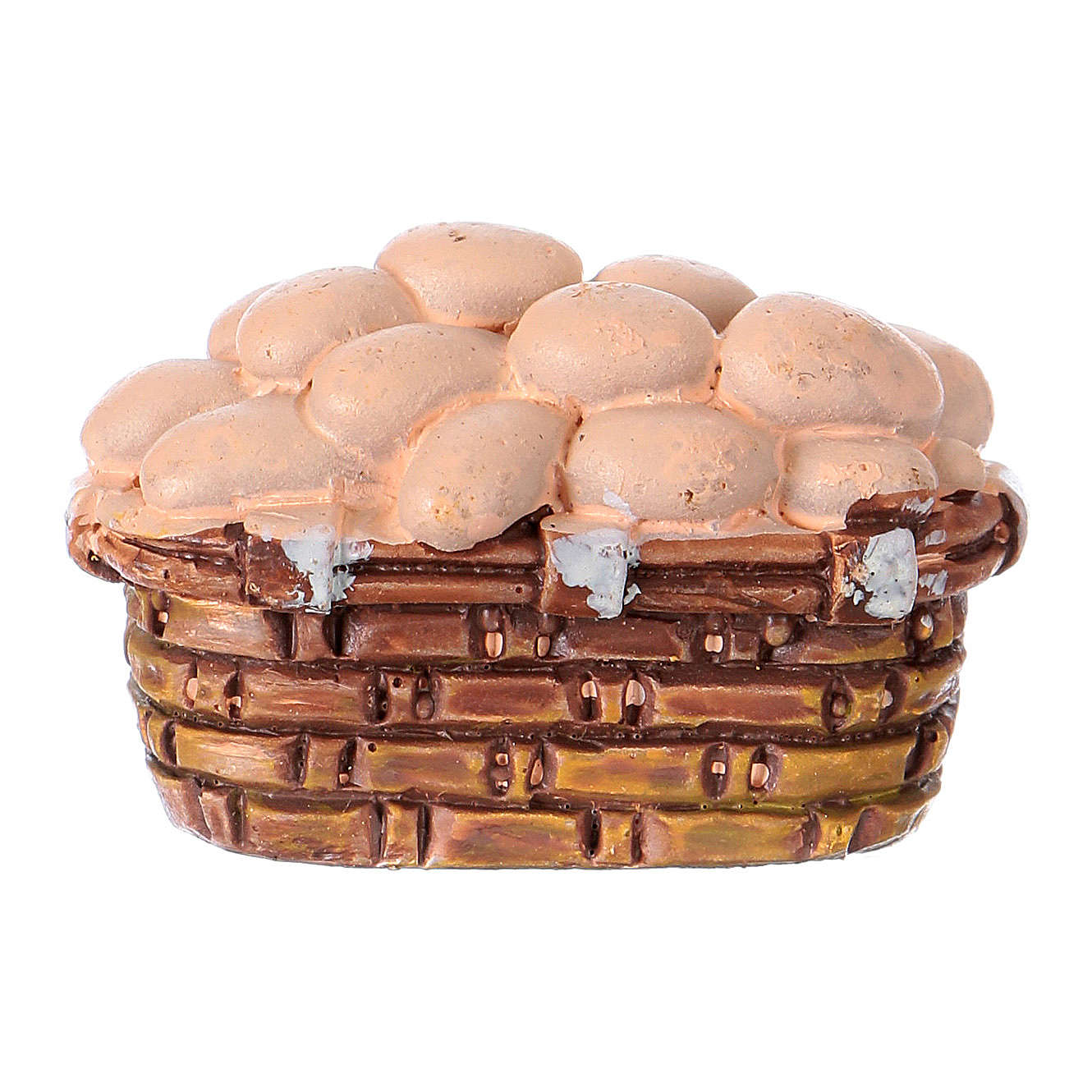 Egg basket in resin for 10 cm Nativity scene Moranduzzo 4