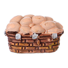 Egg basket in resin for 10 cm Nativity scene Moranduzzo s1
