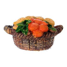 Presépio Moranduzzo: Cesto vendedor de frutos em resina para presépio Moranduzzo com figuras de 10 cm de altura média
