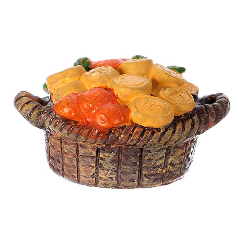 Greengrocer Basket in resin Moranduzzo nativity 10 cm 2
