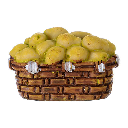 Pear basket in resin for 10 cm Nativity scene Moranduzzo 1