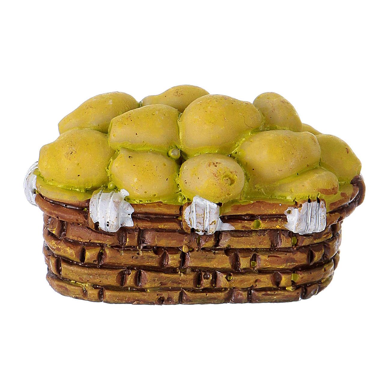 Basket of Pears in resin Moranduzzo 10 cm 4