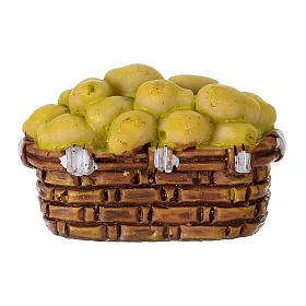 Basket of Pears in resin Moranduzzo 10 cm s1