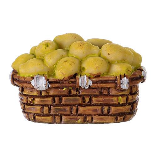 Basket of Pears in resin Moranduzzo 10 cm 1