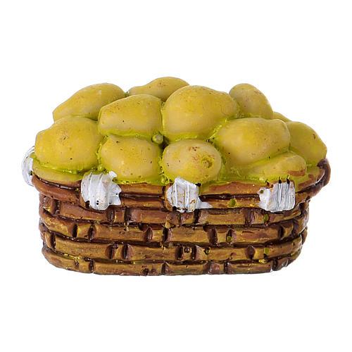 Basket of Pears in resin Moranduzzo 10 cm 2