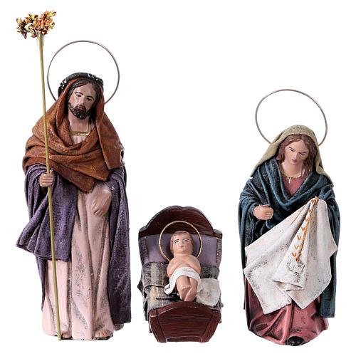 Natività 6 soggetti terracotta 14 cm stile Spagnolo 2