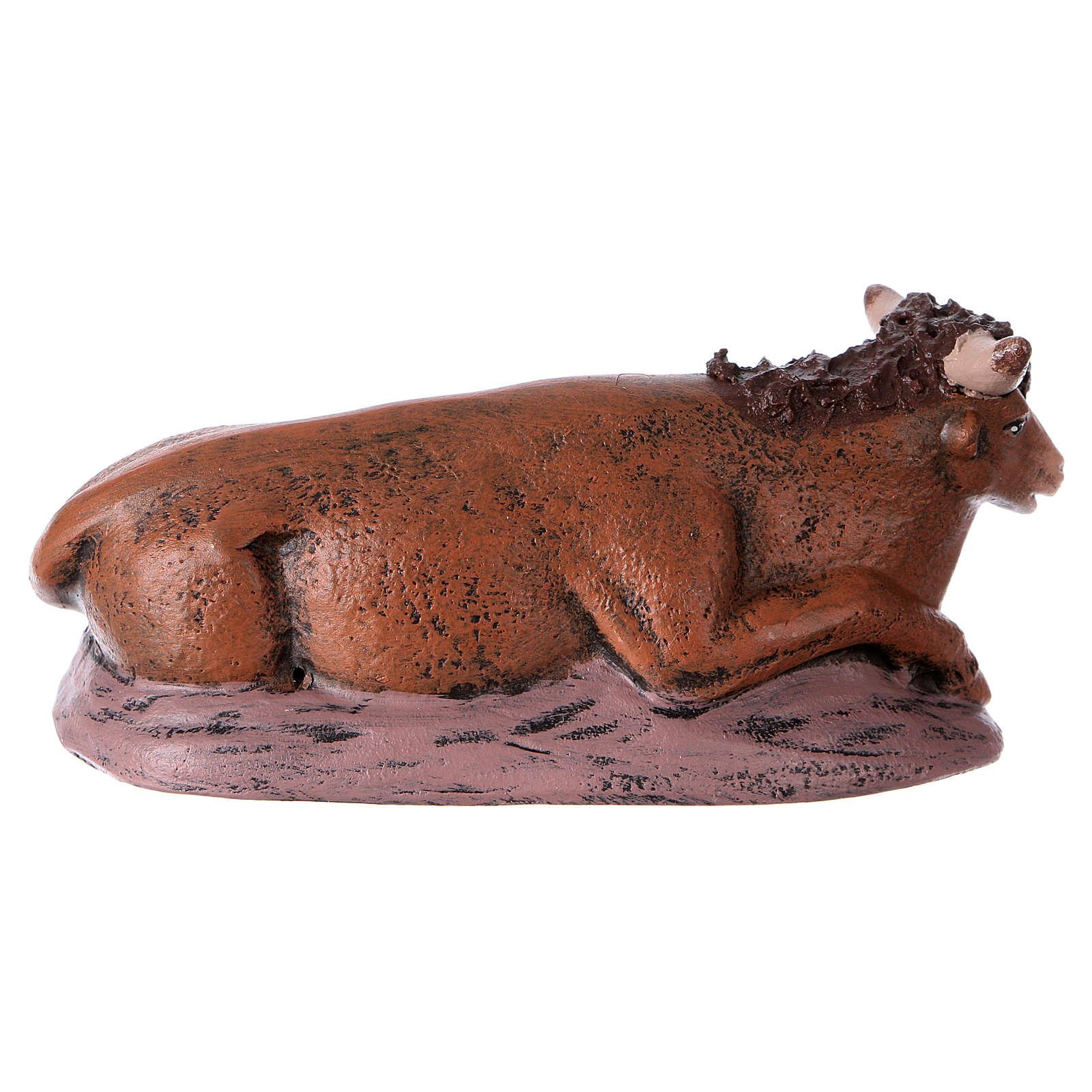 Natività presepe 14 cm terracotta stoffa 6 soggetti stile Spagnolo 3