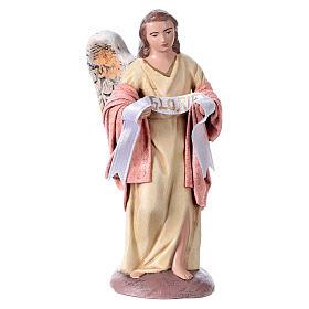 Natività presepe 14 cm terracotta stoffa 6 soggetti stile Spagnolo s4