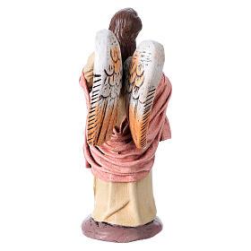 Natività presepe 14 cm terracotta stoffa 6 soggetti stile Spagnolo s8