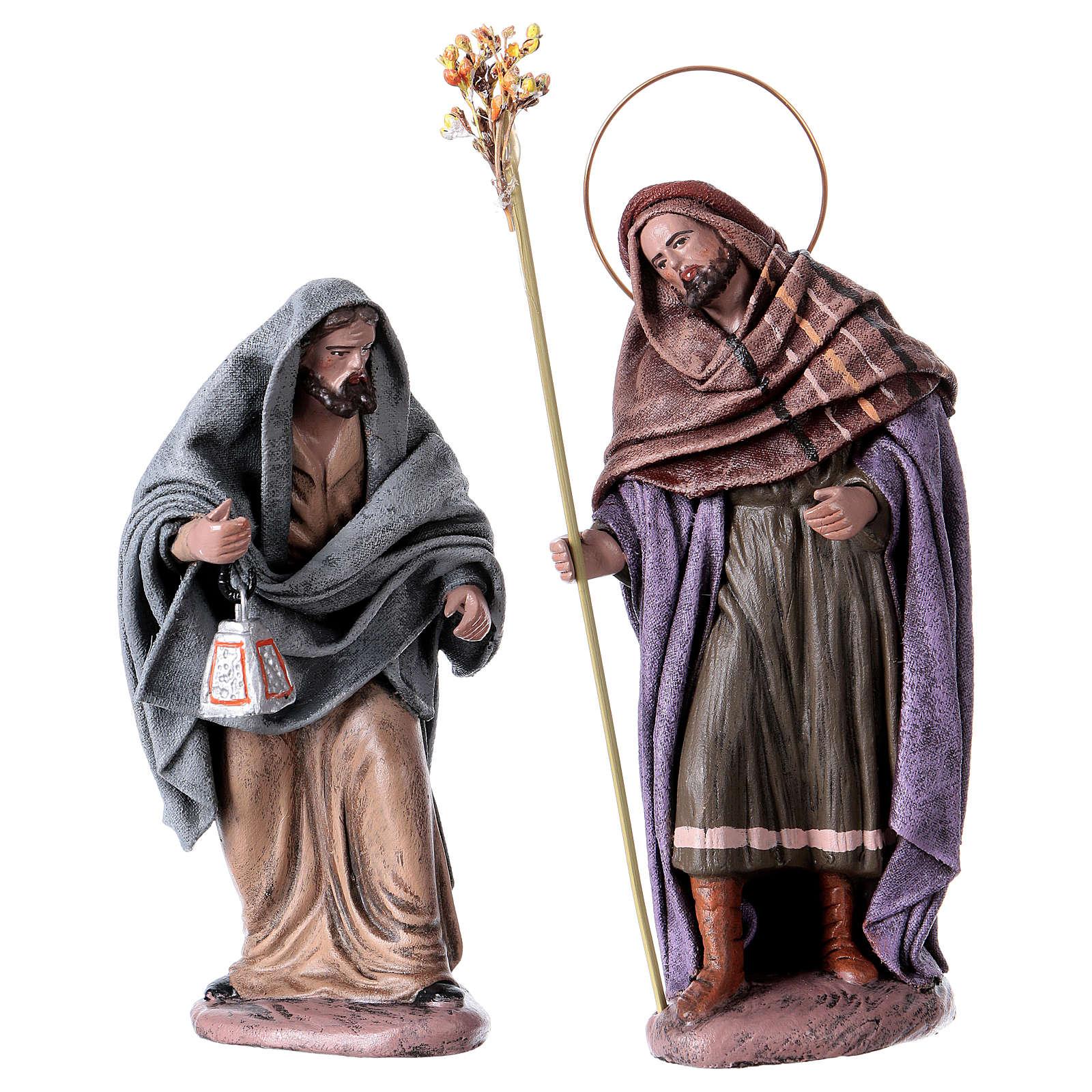 Statue Maria e Giuseppe in cerca di alloggio 14 cm stile Spagnolo 3