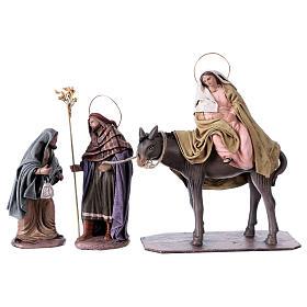 Statue Maria e Giuseppe in cerca di alloggio 14 cm stile Spagnolo s1