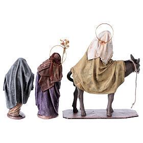 Statue Maria e Giuseppe in cerca di alloggio 14 cm stile Spagnolo s5